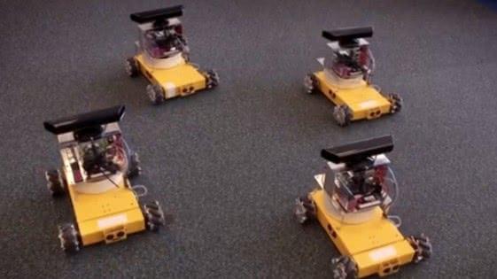 Groepen robots leren samenwerken