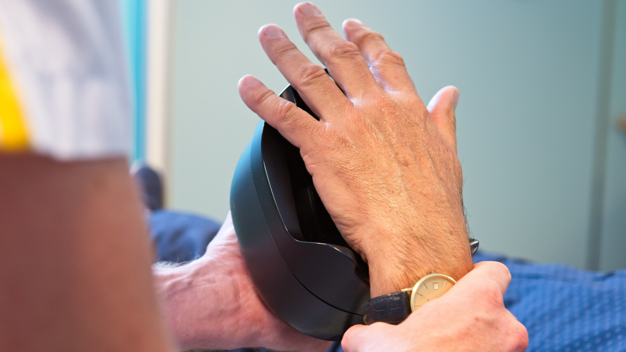 Innovatieve patiëntidentificatie in radiotherapie door biometrische handpalmscan